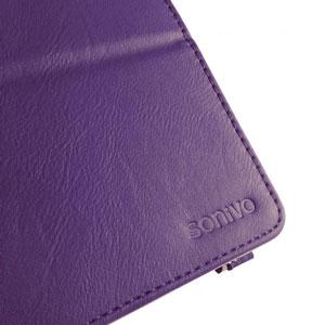 Sonivo Leather Style Case for Google Nexus 7 2 - Purple