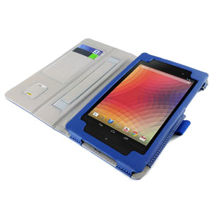 Sonivo Leather Style Case for Google Nexus 7 2 - Blue
