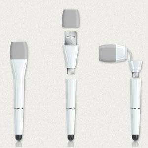Stylus et cable - Xoopar 3 en 1 Cable Pen