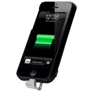 MiLi Power Spring 5 Charging Case for iPhone 5 - Black