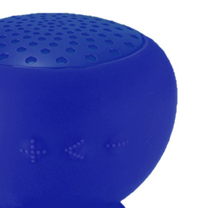 Gum Rock Bluetooth Portable Suction Speaker Stand - Blue