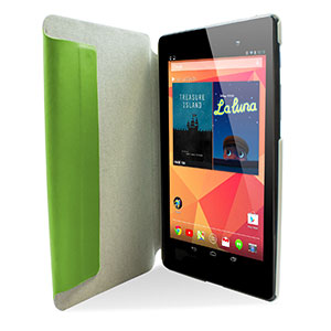 Leather Style Case Stand for Google Nexus 7 2 - Green