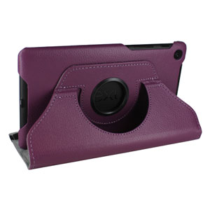Leather Style Rotating Case for Google Nexus 7 - Brown