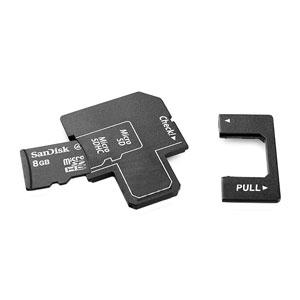 Micro SD(HC) Trio 3-In-1 Card Reader II - Black