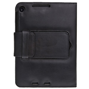 Leather Bluetooth Folding Keyboard Case for Google Nexus 7 2 - Black