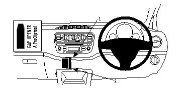 Brodit ProClip Centre Mount - Renault Modus 05-13