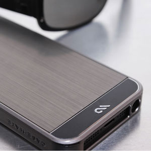 Case-Mate Brushed Aluminium for iPhone 5S/5 - Gunmetal/Black