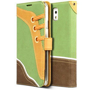 Zenus Masstige Sneakers Diary Case for Samsung Galaxy Note 3 - Green