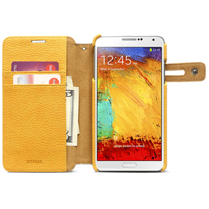Zenus Masstige Color Edge Diary Case for Galaxy Note 3 - Navy / Orange