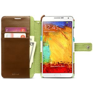 Zenus Prestige Leather Diary Case for Galaxy Note 3 - Eel Green