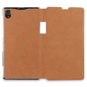 Roxfit Book Flip Case for Sony Xperia Z1 - Desert Tan