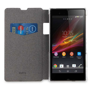 Roxfit Book Flip Case for Sony Xperia Z1 - Carbon Black