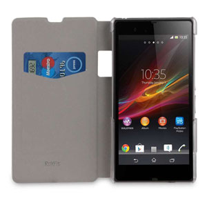 Roxfit Book Flip Case for Sony Xperia Z1 - Polar White
