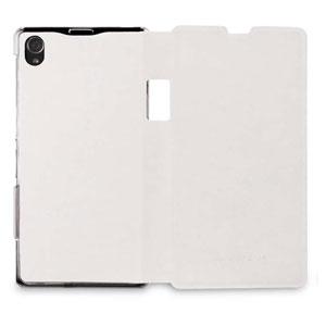 Roxfit Book Flip Case for Sony Xperia Z1 - Polar White