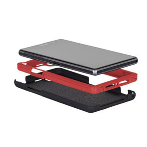 Case-Mate Tough Case for Sony Xperia Z1 - Black/Red