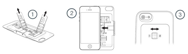 thumbsUp! Dual SIM Case for IPhone 5S / 5 - Black