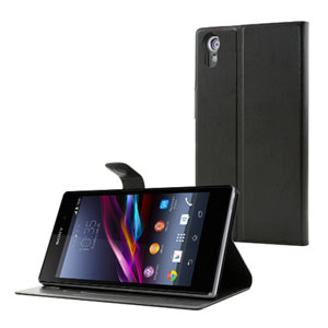 Muvit Sony Xperia Z1 Stick 'N' Stand Case - Black
