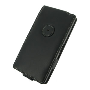 PDair Horizontal Leather Flip Case for Sony Xperia Z1 - Black