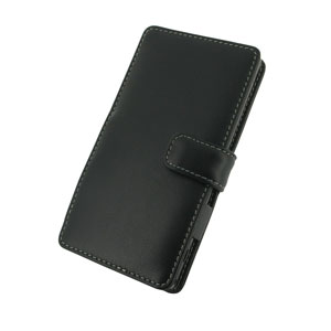 PDair Horizontal Leather Book Type Case for Sony Xperia Z1 - Black