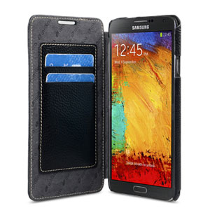 Melkco Premium Leather Book Case for Samsung Galaxy Note 3 - Black