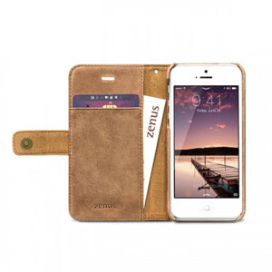 Zenus Prestige Retro Vintage Diary for iPhone 5S / 5 - Vintage Brown