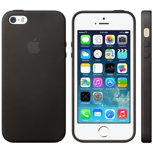 Official Apple iPhone 5S / 5 Leather Case - Black
