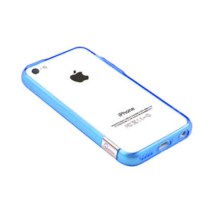 Pinlo Bladedge Bumper Case for iPhone 5C - Blue Transparent