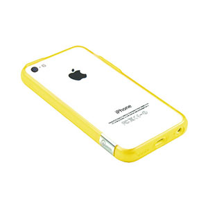Pinlo Bladedge Bumper Case for iPhone 5C - Yellow Transparent