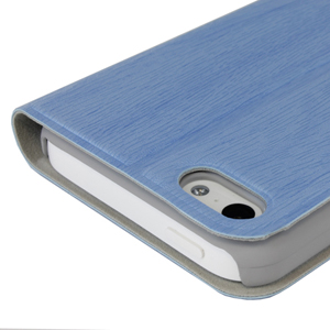 Grainz Wood Grain Folio Case For Apple iPhone 5C - Blue
