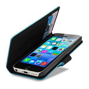 Metalix Book Case for Apple iPhone 5C - Light Blue