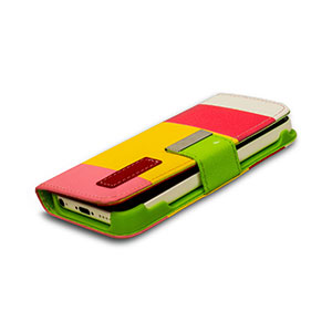 Wallet and Stand Case for Apple iPhone 5C - Pink