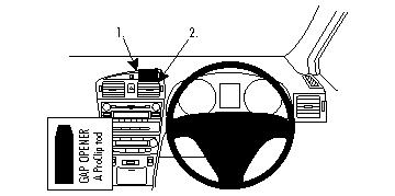 Brodit ProClip Centre Mount - Toyota Avensis 09-13
