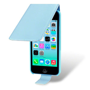 Premium Flip Case For IPhone 5C - Blue
