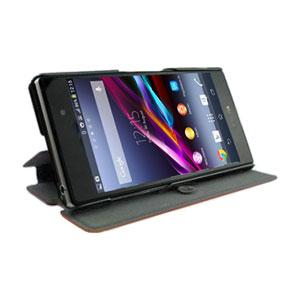 Muvit Sony Xperia Z1 Stick 'N' Stand Case - Black
