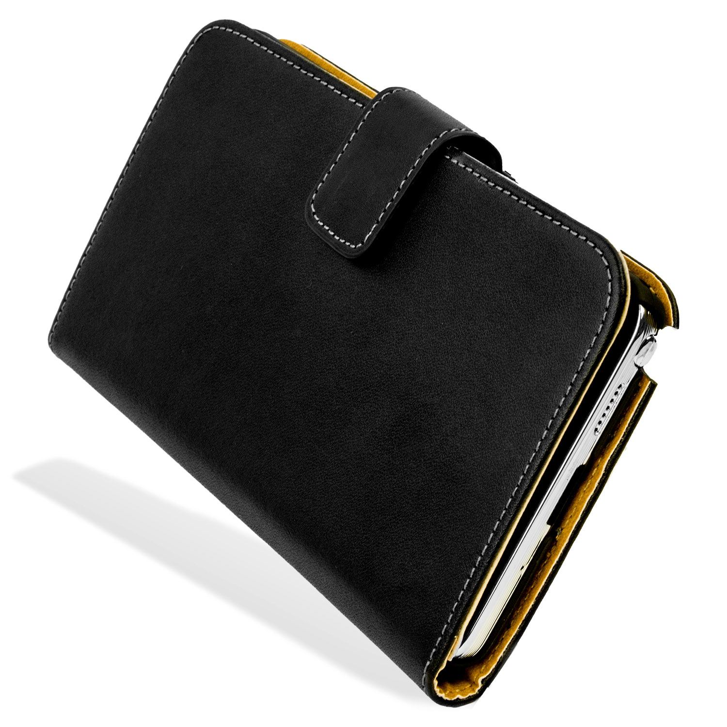 Housse samsung galaxy note 3 portefeuille style cuir noire for Housse telephone samsung galaxy note 3