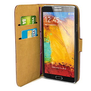 Wallet Case for Samsung Galaxy Note 3 -  Brown