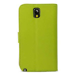 Wallet Case for Samsung Galaxy Note 3 -  Green