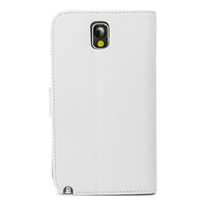 Wallet Case for Samsung Galaxy Note 3 -  White