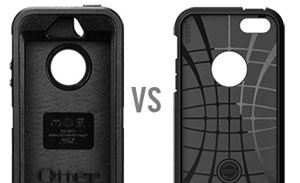 Spigen SGP Tough Armor Case for iPhone 5S / 5 - Smooth Black