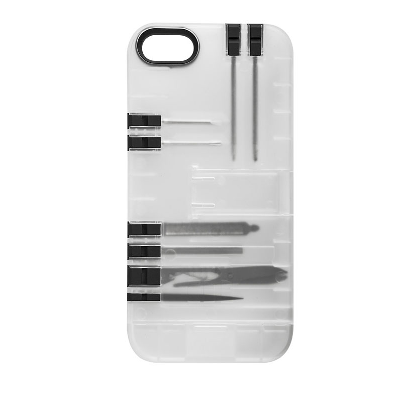Multi-Tool Utility Case for iPhone 5S / 5 - Clear/Black