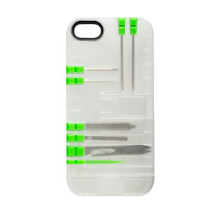 Multi-Tool Utility Case for iPhone 5S / 5 - Clear/Green