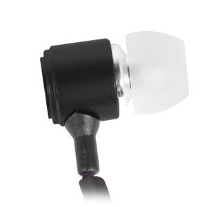 Auriculares anti-enredos Zippit 3.5mm con microfono integrado - Negro