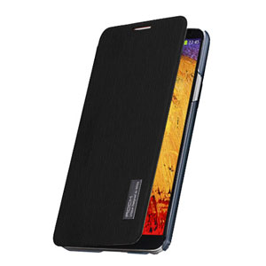 ROCK Elegant Side Flip Case for Samsung Galaxy Note 3 - Black