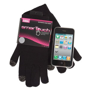 Totes Womens SmarTouch Gloves - Black