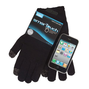 Totes Mens SmarTouch Gloves - Black