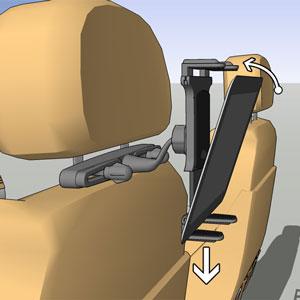 """Soporte de coche para tablets Arkon TAB-RSHM para tabletas de 7"""" a 12"""""""