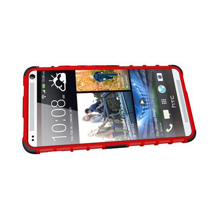 ArmourDillo Hybrid Protective Case for HTC One Max - Red