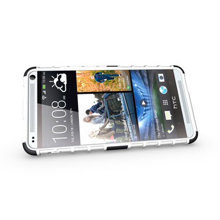 ArmourDillo Hybrid Protective Case for HTC One Max - White