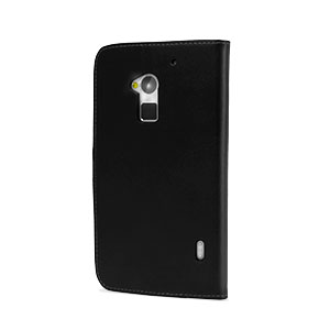 Wallet Case With Credit Cards Slots For HTC One Max - Black