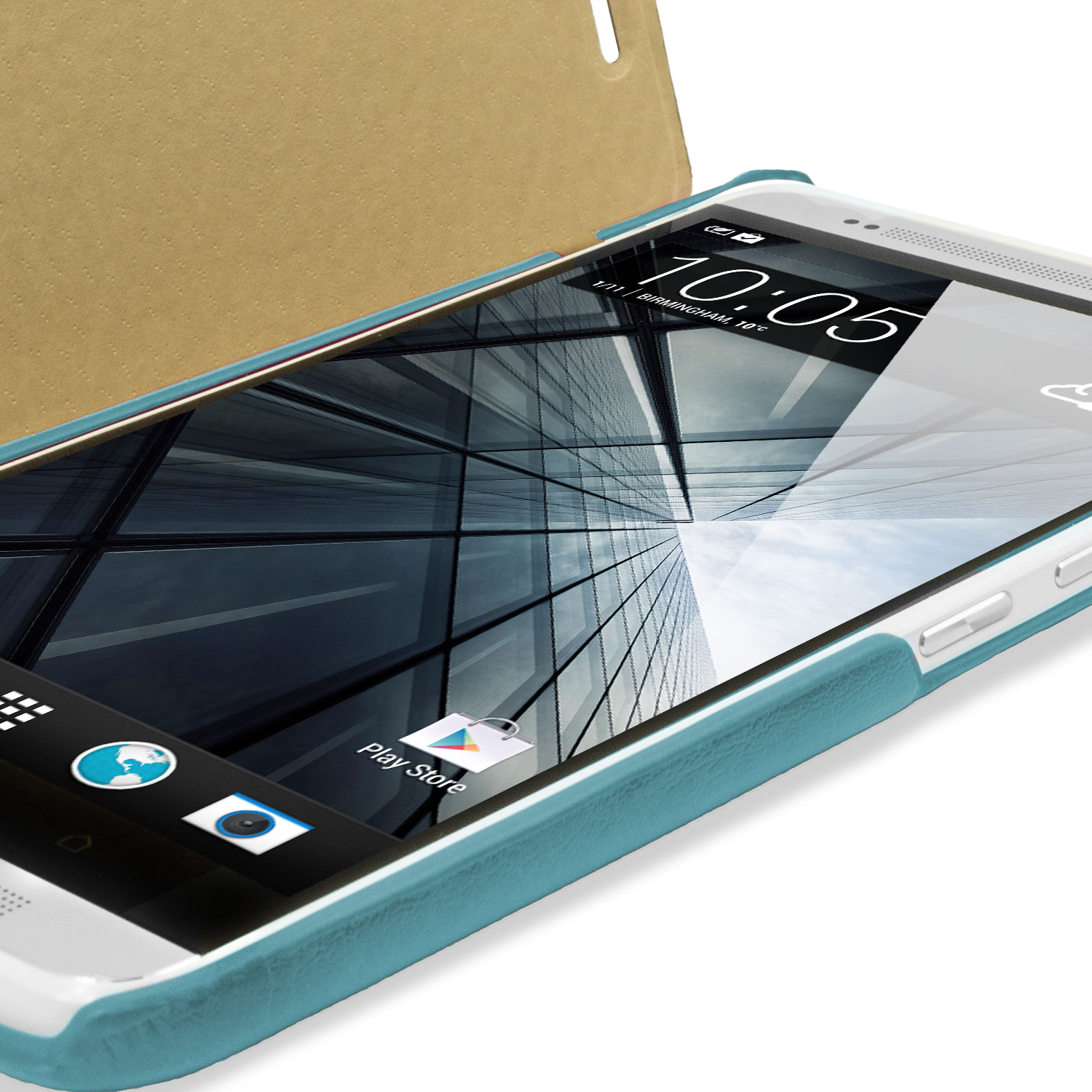 Leather Style Flip Case for HTC One Max - Blue